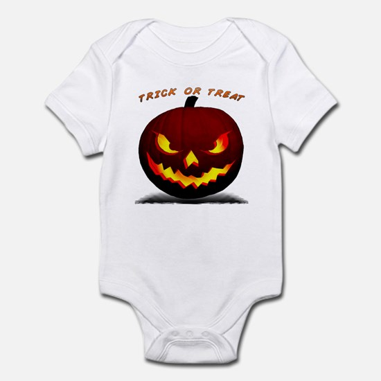 Scary Halloween Pumpkin Infant Bodysuit