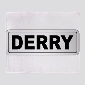 Derry City Nameplate Throw Blanket