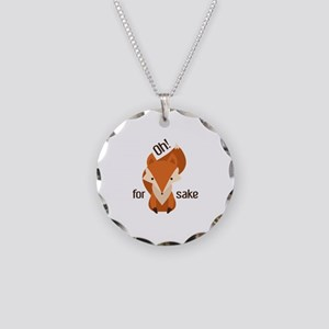 Oh For Fox Sake Necklace Circle Charm