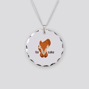 For Fox Sake Necklace Circle Charm