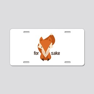 For Fox Sake Aluminum License Plate