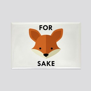 Oh! For Fox Sake Rectangle Magnet