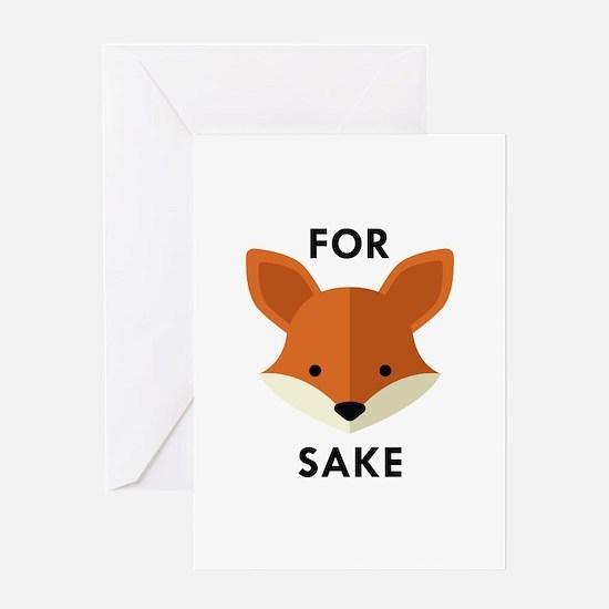 Oh! For Fox Sake Greeting Card