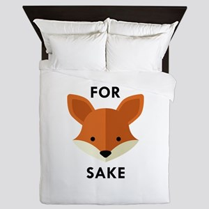 Oh! For Fox Sake Queen Duvet