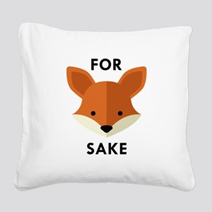 Oh! For Fox Sake Square Canvas Pillow