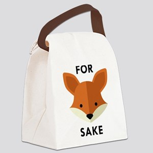 Oh! For Fox Sake Canvas Lunch Bag