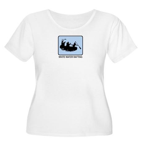 White Water Rafting (BLUE) Women's Plus Size Scoop