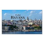 Havana (Cuba) Sticker (Rectangle 10 pk)
