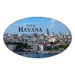 Havana (Cuba) Sticker (Oval 50 pk)