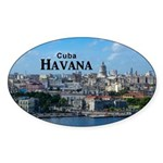 Havana (Cuba) Sticker (Oval 10 pk)