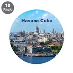 """Havana (Cuba) 3.5"""" Button (10 pack)"""
