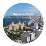 Havana (Cuba) Round Car Magnet