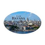 Havana (Cuba) Oval Car Magnet