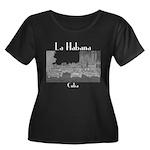 Havana ( Women's Plus Size Scoop Neck Dark T-Shirt