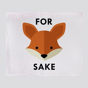 Double-Sided Oh For Fox Sake Throw Blanket