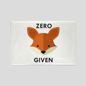 Zero Fox Given Rectangle Magnet