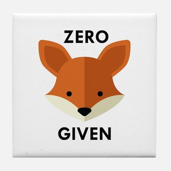 Zero Fox Given Tile Coaster