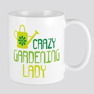 Crazy Gardening Lady Mugs