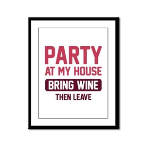 Party At My House Framed Panel Print