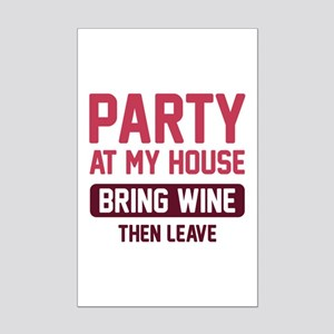 Party At My House Mini Poster Print