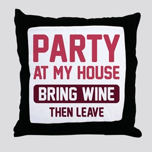 Party At My House Throw Pillow