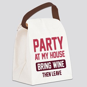 Party At My House Canvas Lunch Bag