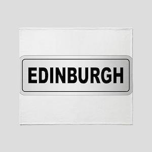 Edinburgh City Nameplate Throw Blanket