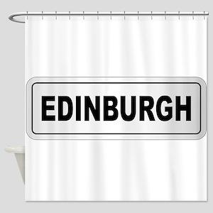Edinburgh City Nameplate Shower Curtain