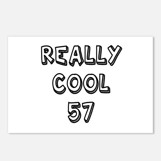 Really Cool 57 Designs Postcards (Package of 8)