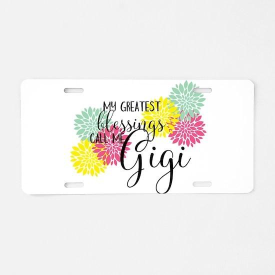 Gigi's Greatest Blessings Aluminum License Plate