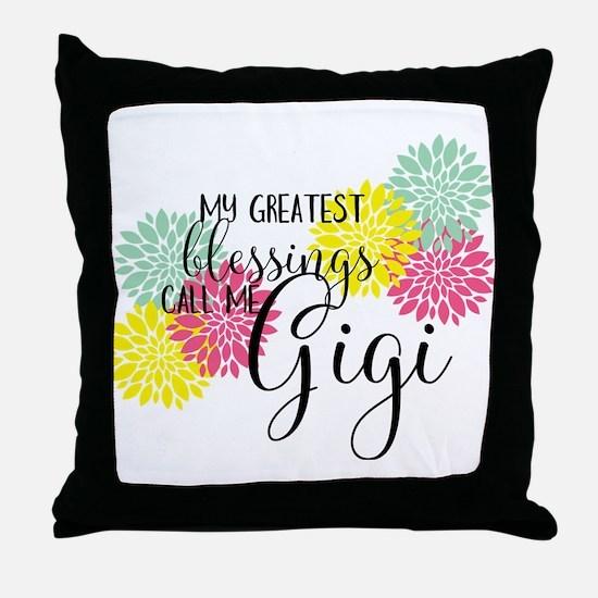 Gigi's Greatest Blessings Throw Pillow