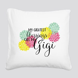 Gigi's Greatest Blessings Square Canvas Pillow