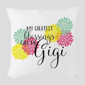Gigi's Greatest Blessings Woven Throw Pillow