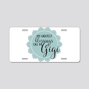 Gigi's Greatest Blessings Aluminum License Plate