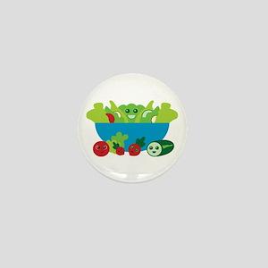 Kawaii Salad Mini Button
