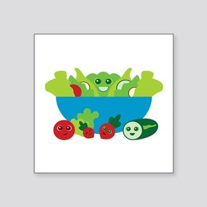 "Kawaii Salad Square Sticker 3"" x 3"""