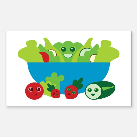 Kawaii Salad Sticker (Rectangle)