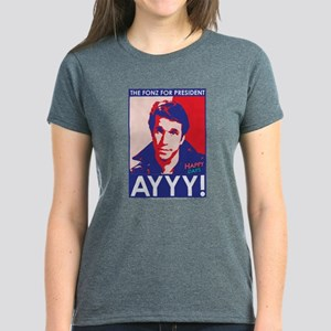 The Fonz for President Women's Dark T-Shirt