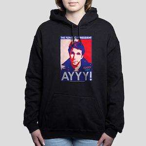 The Fonz for President Women's Hooded Sweatshirt