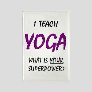 teach yoga Rectangle Magnet