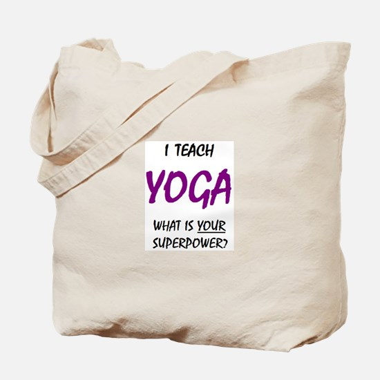 teach yoga Tote Bag