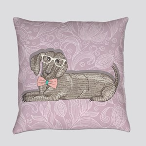 Hipster Dachshund Everyday Pillow