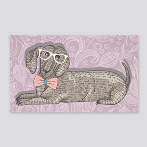 Hipster Dachshund Area Rug