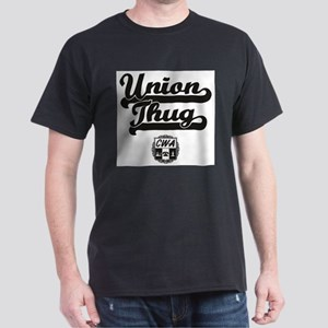 CWA Union Thug Black On White T-Shirt