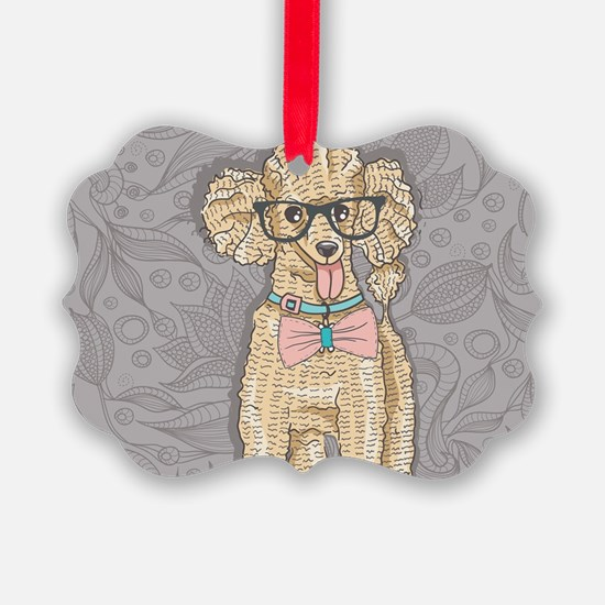 Hipster Poodle Ornament