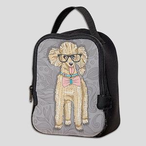Hipster Poodle Neoprene Lunch Bag