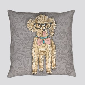 Hipster Poodle Everyday Pillow
