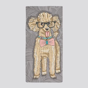 Hipster Poodle Beach Towel