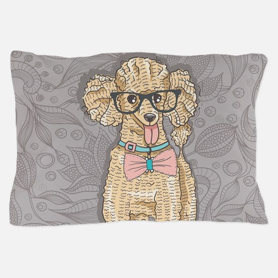 Hipster Poodle Pillow Case