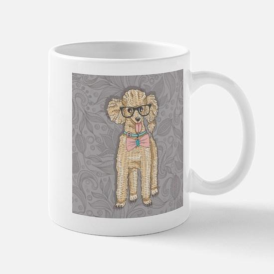 Hipster Poodle Mugs